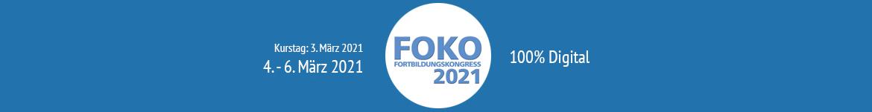 Banner FOKO Fortbildungskongress 2021