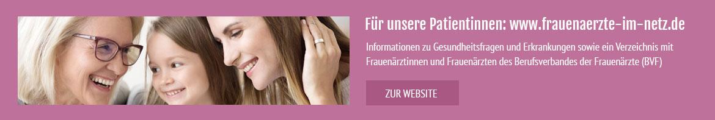 Banner Frauenärzte im Netz - Ihr Portal für Frauengesundheit und Frauenheilkunde